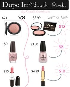 Pink Dupes! Get the same product for less!
