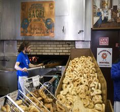 If you're ever in Quebec, make sure you try the bagels in Montreal. And the potine. And the maple sap candy. And the … heck, just try everything on this list. Bagel Shop, Canadian Food, Recipe Boards, Montreal Canada, Foods To Eat, Quebec, Stuffed Mushrooms, Sweet Home, Food And Drink