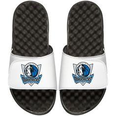 Dallas Mavericks Youth Primary iSlide Sandals - White