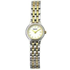 Pulsar Women's PEG435X9 Watch Pulsar. $50.00. Mineral crystal. Quality Japanese-Quartz movement. Two-tone-stainless-steel case; White dial