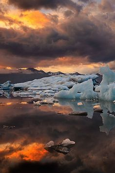 sundxwn:  Ice on Fire… by Iurie Belegurschi