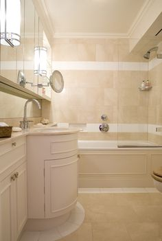 Master Bathroom with marble floor and wall tiles.