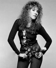 Stevie adorning her Tom Petty & the HB fan T-shirt.