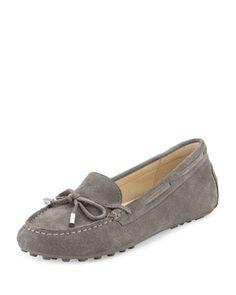 Daisy Suede Moccasin, Steel Gray by MICHAEL Michael Kors at Neiman Marcus.