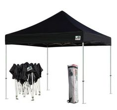Eurmax Basic 10 X 10 Pop up Canopy - Portable Event Outdoor Canopy Wedding Party Tent Quick Shelter + Wheeled Carry Bag, Black Pop Up Canopy Tent, Canopy Frame, Window Canopy, Canopy Outdoor, Instant Tent, Oxford Fabric, Camping Accessories, Carry On Bag
