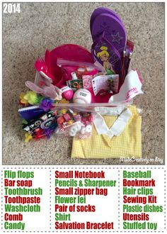 Operation Christmas Child shoebox for a year old girl. Christmas Child Shoebox Ideas, Operation Christmas Child Shoebox, Kids Christmas, Christmas Boxes, Shoe Box Appeal, Salvation Bracelet, Latest Dress For Girls, Kids Clothes Sale, Kids Clothing