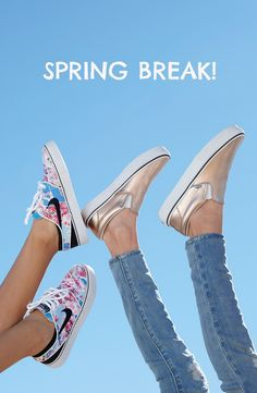 timeless design 2c30d 65197 The cutest sneakers for your kids spring break. Love the shiny, rose-