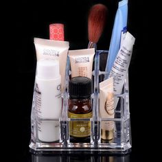 9 Spaces Clear Lipstick Holder Cosmetic Organizer