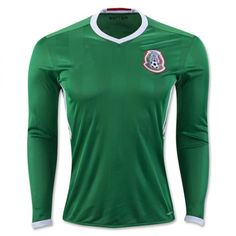 36ad854ba adidas Mexico Long Sleeve Home Jersey 2016 Mexico Soccer Jersey