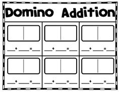 math worksheet : 1000 images about centers in a box on pinterest  math centers  : Domino Math Worksheets First Grade