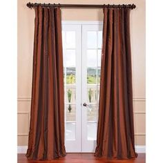 @Overstock - Ultra Lux Blackout Tuscan Copper Taffeta Stripe Curtain Panel - Offering privacy, energy efficiency and luxury these Ultra Lux Blackout Faux Silk Taffeta Stripe Curtains are a must-have.  http://www.overstock.com/Home-Garden/Ultra-Lux-Blackout-Tuscan-Copper-Taffeta-Stripe-Curtain-Panel/9011568/product.html?CID=214117 $67.49
