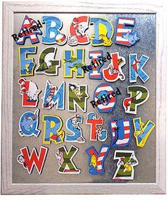 Dr. Seuss Alphabet Letter I want these now!