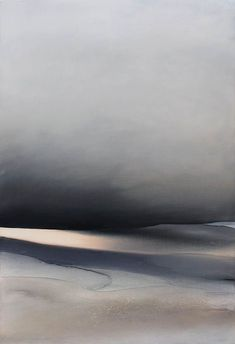 Large Abstract Landscape - Abstract Art, Black and white / Panting on Canvas / Contemporary Art / Modern Painting / Lyrical Landscape