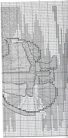 Schema punto croce Bimba Bici 4