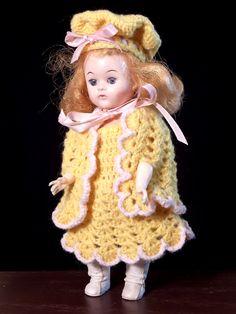 Vintage Doll Stashin Andrea or Penny ? Strung Straight Leg Walker Hard Plastic - pinned by pin4etsy.com