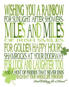 Wishing You Miles and Miles of Irish Smiles! {free printable} Wishing You Miles and Miles of Irish Smiles! {free printable} – The Love Nerds