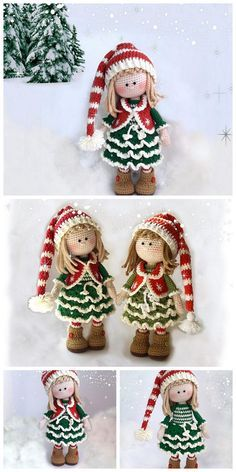 Crochet Christmas Ornaments, Holiday Crochet, Christmas Knitting, Christmas Crafts, Free Christmas Crochet Patterns, Crochet Snowflakes, Christmas Bells, Christmas Angels, Christmas Tree