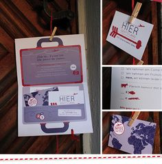 Hochzeitseinladung für Weltenbummler via www.einstueckvomglueck.com
