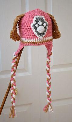 Free shipping Skye Puppy Animal Hats Crochet Hat Pattern, Crochet pattern, Handmade Baby hat Toddler crochet hat  10pcs/lot