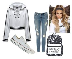 """Comfortable style..."" by deyanafashion ❤ liked on Polyvore featuring Frame Denim, Puma and Converse"