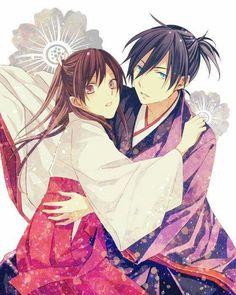 noragami yato y hiyori - kimono 2 Anime Noragami, Yatogami Noragami, Yato And Hiyori, Fanart Manga, Manga Anime, Tokyo Ghoul, Anime Couples, Cute Couples, Otaku