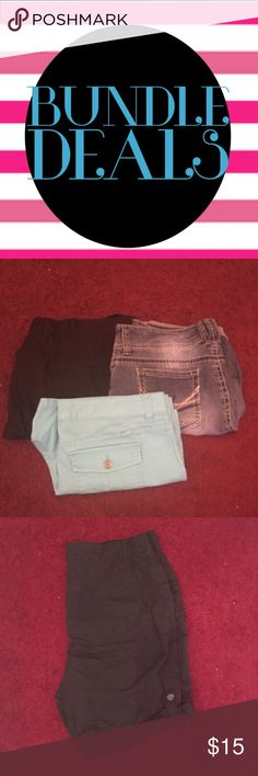 Shorts Union Bay Pretty blue Never wore other then to try on size 17 juniors excellent condition UNIONBAY Shorts