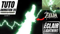 TUTO Animation 2D | ⚡ Éclair/Lightning Breath of the Wild Zelda Breath, Breath Of The Wild, Dojo, Motion Design, Lightning, 2d, Breathe, The Creator, Animation