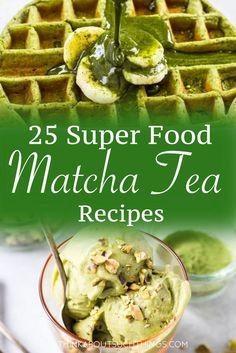 25 Super Food Recipes with Matcha Green Tea - Trend Best Cocktail Recipes 2019 Green Tea Cupcakes, Green Tea Cookies, Tea Recipes, Real Food Recipes, Healthy Recipes, Healthy Desserts, Drink Recipes, Healthy Meals, Healthy Food