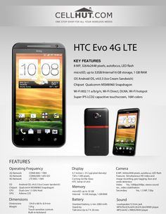 HTC Evo LTE (For Sprint) CDMA Cell Phone. With instant capture, crystal-clear picture, and HD video, never miss a mom… Product Brochure, Hd Video, Evo, Wifi, Technology, Phone, Tech, Telephone, Hd Movies