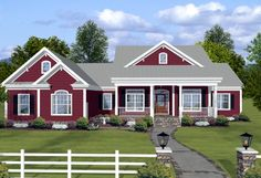 House Plan chp-50403 at COOLhouseplans.com - LOVE!  LOVE!  LOVE!  I think I will stop looking for a plan.  This has everything...down to the library.  Each bedroom has its own bath.  Country kitchen.  Screened porch.  I would build this tomorrow if I could!