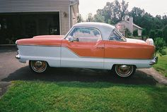 1957 Nash Metropolitan... totes gushing. I just love it!