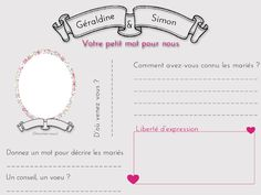 Les moineaux de la mariée: DIY : Fiches pré-remplies