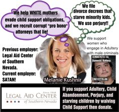 "An investigation of Legal Aid Center of Southern Nevada ""attorney"" EBRU CETIN and Melanie Kushnir.  http://www.nevadabusinessdirectory.info/nevada/an-investigation-of-legal-aid-center-of-southern-nevada-attorney-ebru-cetin/"