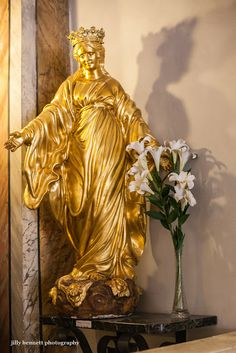 This gold sculpture is one of many objets d'art in the Chapel de la Miséricorde.