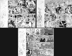 """Online veilinghuis Catawiki: Geradts, Evert - 3 Originele tekeningen voor de LP-hoes van """"Een Kannibaal Zoals Jij En Ik"""" - Freek de Jonge en Bram Vermeulen - (1975)"""