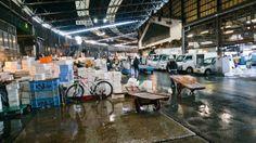 Mercado de Pescado Tsukiji mayor mercado de pescado del mundo, en Tokyo
