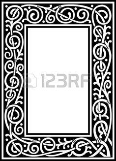 Vector Floral Quadro Extravagante Preto E Branco Banco De Imagens