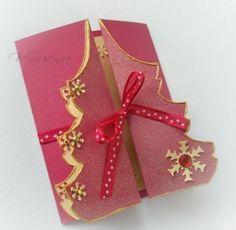 Tarjetas navideñas con forma de arbol de navidad