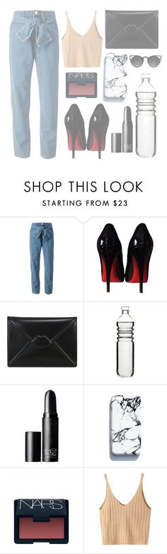 """Coachella #day4"" by mode-222 ❤ liked on Polyvore featuring DKNY, Christian Louboutin, Lulu Guinness, Dot & Bo, NARS Cosmetics, WithChic and Quay"