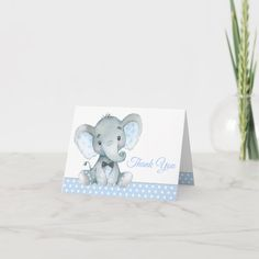 Boy Elephant Baby Shower Thank You Cards Baby Shower Party Favors, Baby Shower Cookies, Baby Shower Parties, Baby Shower Themes, Baby Boy Shower, Baby Shower Invitations, Shower Ideas, Baby Shower Thank You Cards, Custom Thank You Cards