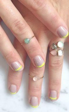 Pastel stacking rings
