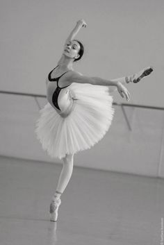 The Bolshoi Ballet's Olga Smirnova in rehearsal (photo by Svetlana Avvakum)