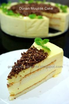 A good slice in the morning to start my new day...     Another durian cake for this season. The durian souffle cheesecake sold out in no ...