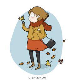 Lingvistov.com - #illustrations, #doodles, #joke, #humor, #cartoon, #cute, #funny, #comics, #greeting #cards, #joke, #drawing, #fall