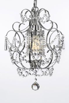 Versailles Crystal Chrome Chandelier by Gallery Lighting on @HauteLook