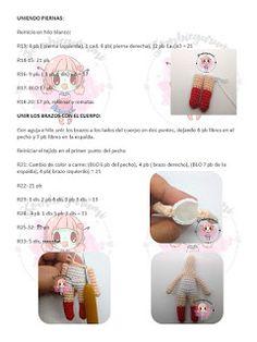 Amigurumis: MINI FRIDA PATRON AMIGURUMI GRATIS Crochet Bookmark Pattern, Crochet Bookmarks, Crochet Doll Pattern, Crochet Dolls, Crochet Animal Patterns, Stuffed Animal Patterns, Crochet Animals, Doll Patterns, Crochet Doll Tutorial