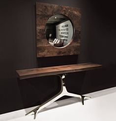 ROSE - Contemporary sideboard table / walnut / polished stainless steel / rectangular by Hudson Furniture Design Furniture, Custom Furniture, Wood Furniture, Modern Furniture, Furniture Removal, Sideboard Table, Console Tables, Hudson Furniture, Interior Design Inspiration