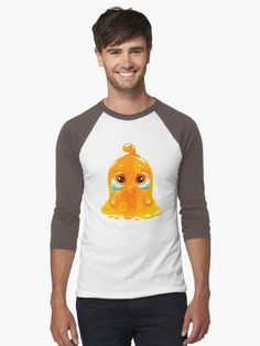 Orange crying slime hoodies and shirts for men! Funny Dogs, Home Accessories, Tank Man, Hoodies, Mens Tops, T Shirt, Slime, Crying, Sad
