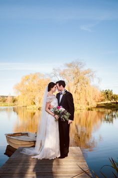 Wedding by the lake at the beautiful Bendooley Estate Photos by Hilary Cam Photography  #Bendooley