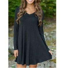 Simple Style Loose Mini Dress COMING SOON New - Retail!!!! Available in S, M, L, and XL sizes, please comment below to pre order if you're interested and in what color and size. The retail price is $20 Ask for a separate listing. Thank you! Also if you preorder in December month you will get 10% off! Dresses Mini